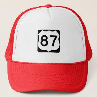 Casquette Signe de l'itinéraire 87 des USA