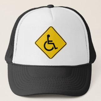 Casquette Signe de route du trafic de fauteuil roulant