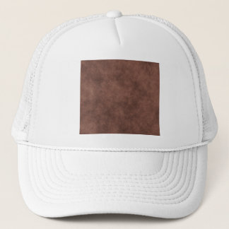 Casquette Simili cuir dans brun chocolat