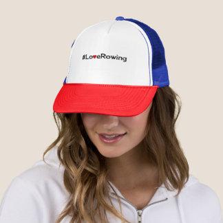 Casquette Slogan d'aviron d'amour de Hashtag