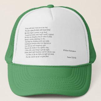 Casquette Sonnet # 27 par William Shakespeare