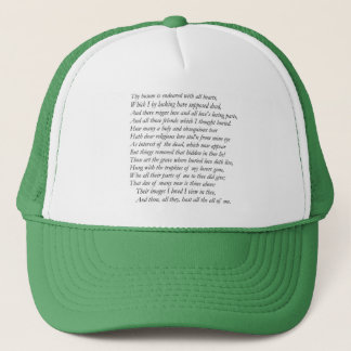 Casquette Sonnet # 31 par William Shakespeare