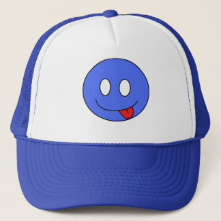 Casquette souriant bleu