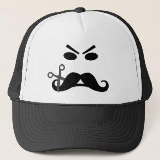 Casquette souriant de moustache fâchée -