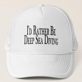 Casquette Soyez plutôt plongée de mer profonde