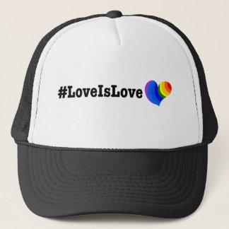 Casquette T-shirt de hashtag de #LoveIsLove