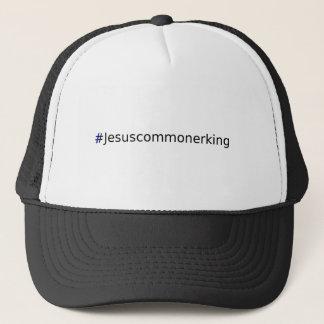 Casquette T-shirt #Jesuscommonerking avec la croix bleue