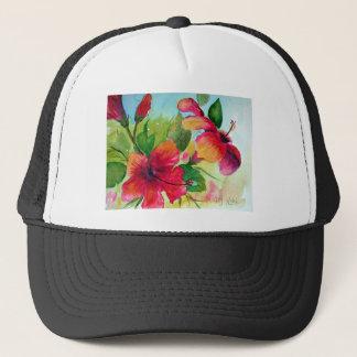 Casquette T-shirts avec les fleurs tropicales
