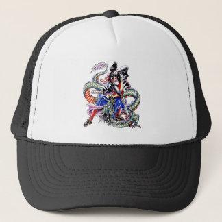 Casquette Tatouage japonais frais de dragon de combat de