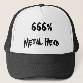 Casquette tête 666%Metal
