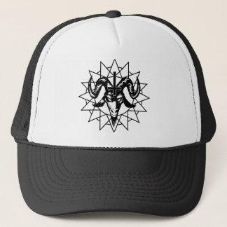 Casquette Tête avec l'étoile de chaos (noir)