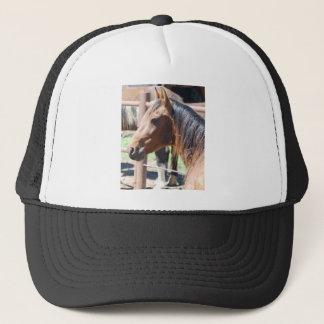 Casquette tête de cheval brune
