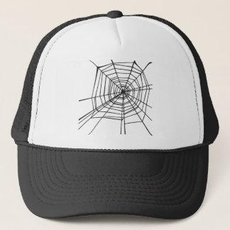Casquette Toile d'araignée noire et blanche
