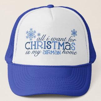 Casquette Tous que je veux pour l'aviateur de Noël…