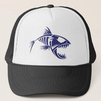 Casquette tribal féroce de poissons