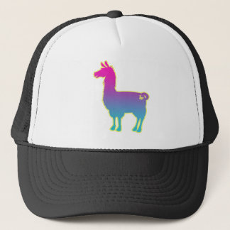 Casquette tropical rose de lama