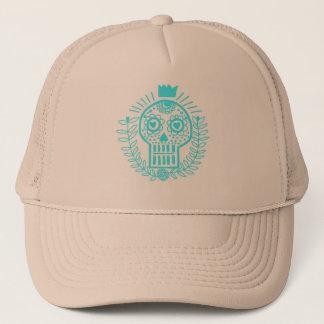 Casquette Turquoise mexican skull, jour des morts, CAP
