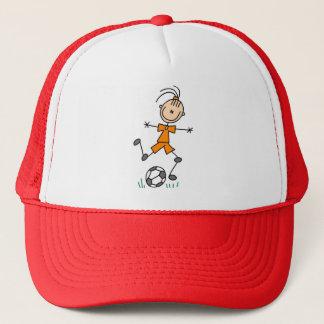 Casquette Uniforme orange du football de fille
