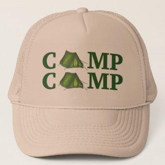 Casquette vert de campeur de randonnée de colonie