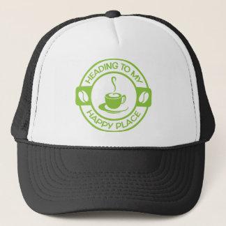 Casquette Vert de chaux heureux de café de l'endroit A257