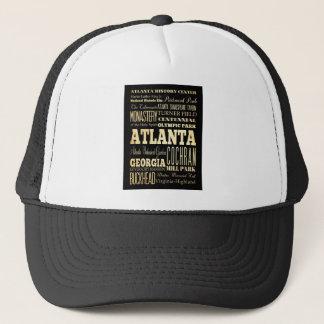 Casquette Ville d'Atlanta d'art de typographie d'état de la