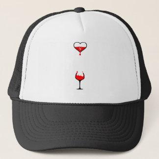 Casquette vin de coeur