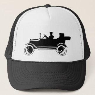 Casquette vintage de casquette de silhouette de