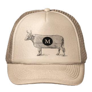 Casquette VINTAGE du monogramme T de vache à