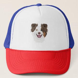 Casquette Visage heureux border collie de chiens