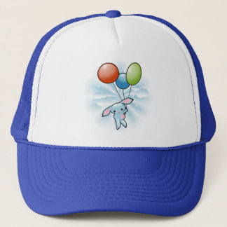 Casquette Vol bleu mignon de lapin avec des ballons
