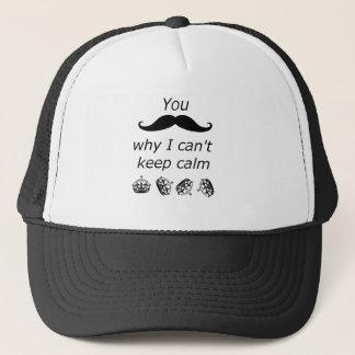 Casquette Vous moustache pourquoi je ne peux pas garder le