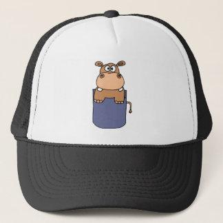Casquette XX hippopotame dans une bande dessinée de poche