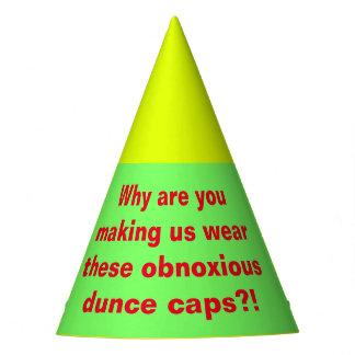 Casquettes de cancre désagréables chapeaux de fètes