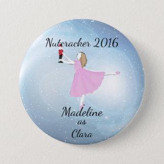 Casse-noix personnalisé - ornement de Clara Badge Rond 7,6 Cm