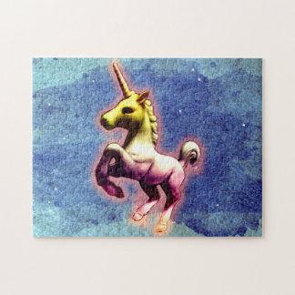 Casse-tête de licorne avec la boîte (miroitement puzzle