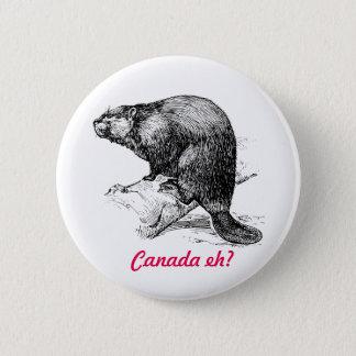 Castor Canada hein ?  Itinéraire de phare Badge Rond 5 Cm