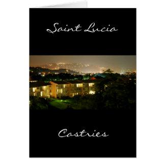 Castries. Sainte-Lucie Carte