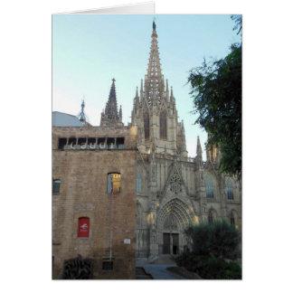 Cathédrale à Barcelone Espagne Carte