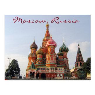 Cathedrale célèbre de St Basil de Moscou Carte Postale
