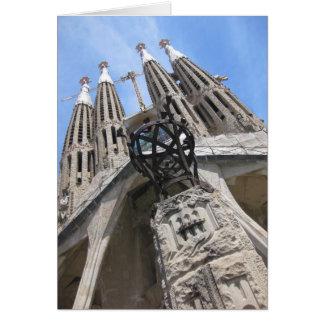 Cathédrale de Gaudi, Barcelone Espagne Carte