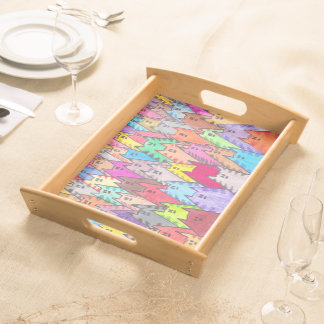 Cats 06 - Chats 06 - Serving tray - plateau