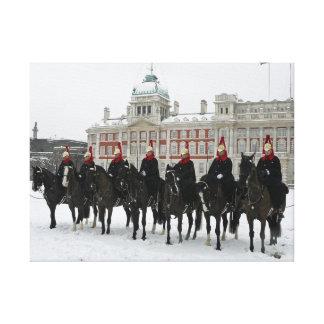 Cavalerie de ménage dans la neige, copie de toile