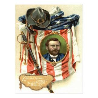 Cavalerie d'épée d'Ulysse S Grant de drapeau des Carte Postale