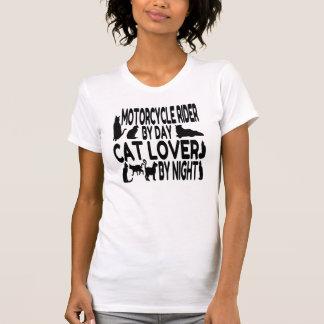 Cavalier de moto d'amoureux des chats t-shirt