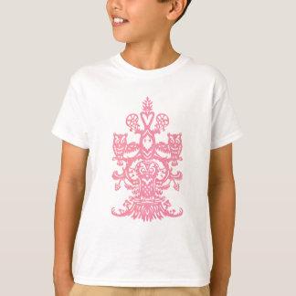 Cavité de hibou - rose t-shirt
