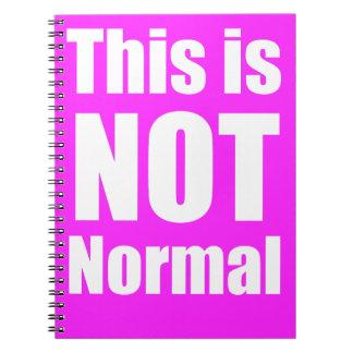 Ce n'est pas carnet normal