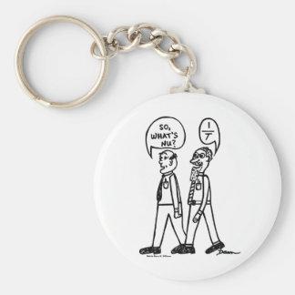 Ce qui est porte - clé de bande dessinée du NU Porte-clé Rond