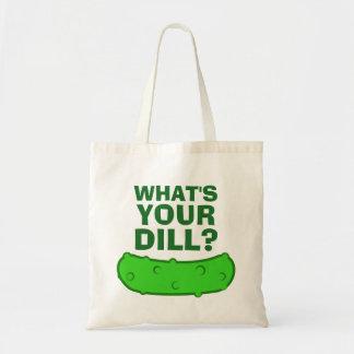 Ce qui est votre aneth sac en toile budget