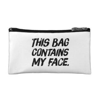 Ce sac contient mon visage