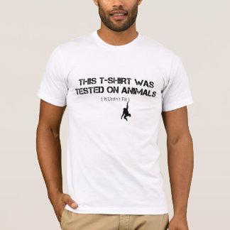 Ce T-shirt a été examiné sur des animaux